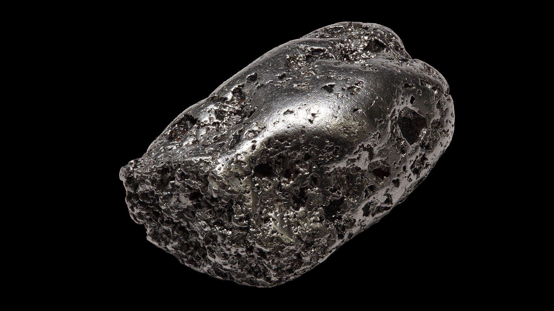 Къс самородно сребро